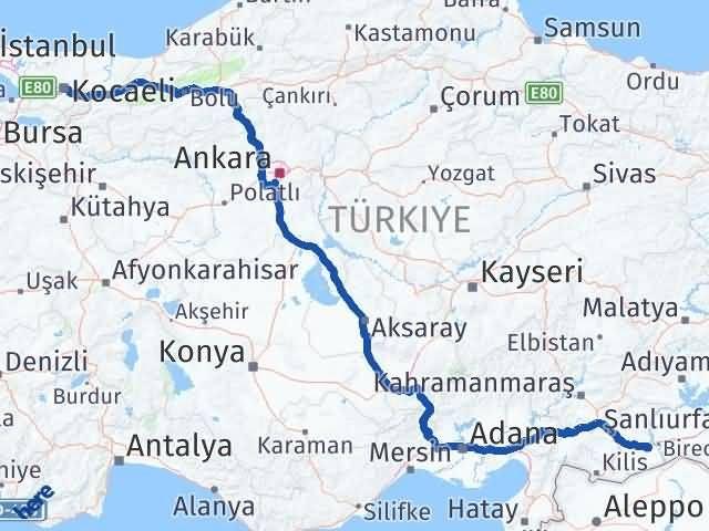 Gaziantep Nizip Kocaeli Arası Kaç Km? Arası Kaç Km Saat? Nerede Yol Haritası Yakıt, Rota ve Mesafe Hesaplama