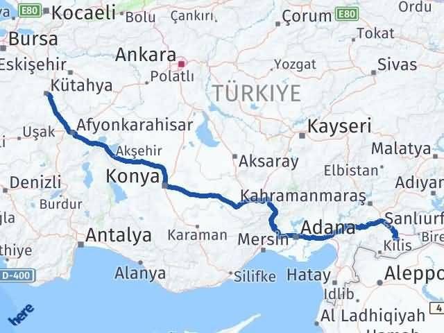 Gaziantep Oğuzeli Kütahya Arası Kaç Km? Arası Kaç Km Saat? Nerede Yol Haritası Yakıt, Rota ve Mesafe Hesaplama