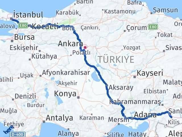 Gaziantep Şahinbey İstanbul Arası Kaç Km? Arası Kaç Km Saat? Nerede Yol Haritası Yakıt, Rota ve Mesafe Hesaplama