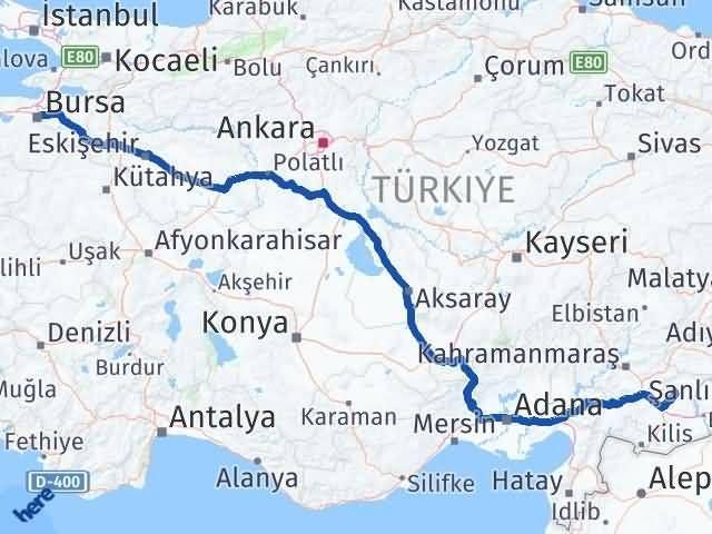 Gaziantep Yavuzeli Bursa Arası Kaç Km? Arası Kaç Km Saat? Nerede Yol Haritası Yakıt, Rota ve Mesafe Hesaplama