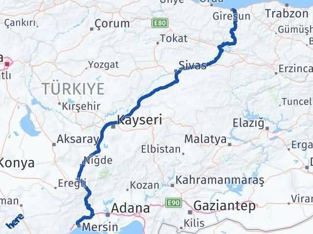 Giresun Akdeniz Mersin Arası Kaç Km? - Kmhesaplama.com Arası Kaç Km Saat? Nerede Yol Haritası Yakıt, Rota ve Mesafe Hesaplama
