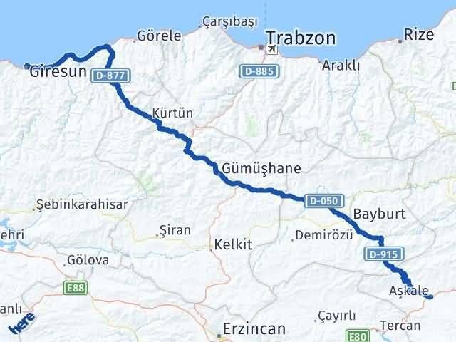 Giresun Aşkale Erzurum Arası Kaç Km? - Kmhesaplama.com Arası Kaç Km Saat? Nerede Yol Haritası Yakıt, Rota ve Mesafe Hesaplama
