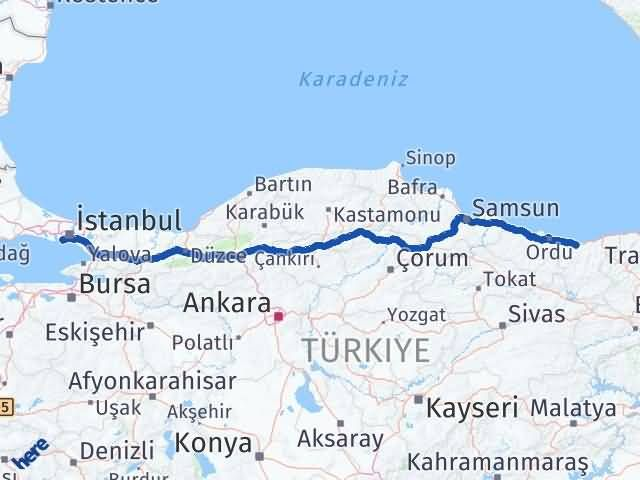 Giresun Bakırköy İstanbul Arası Kaç Km? - Kmhesaplama.com Arası Kaç Km Saat? Nerede Yol Haritası Yakıt, Rota ve Mesafe Hesaplama