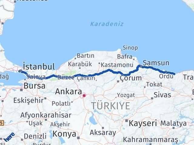 Giresun Bayrampaşa İstanbul Arası Kaç Km? - Kmhesaplama.com Arası Kaç Km Saat? Nerede Yol Haritası Yakıt, Rota ve Mesafe Hesaplama