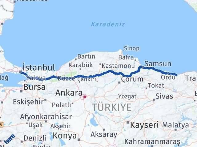 Giresun Beyoğlu İstanbul Arası Kaç Km? - Kmhesaplama.com Arası Kaç Km Saat? Nerede Yol Haritası Yakıt, Rota ve Mesafe Hesaplama