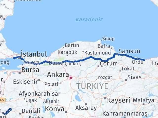 Giresun Büyükçekmece İstanbul Arası Kaç Km? Arası Kaç Km Saat? Nerede Yol Haritası Yakıt, Rota ve Mesafe Hesaplama