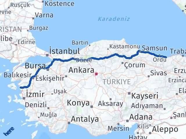 Giresun Dikili İzmir Arası Kaç Km? - Kmhesaplama.com Arası Kaç Km Saat? Nerede Yol Haritası Yakıt, Rota ve Mesafe Hesaplama