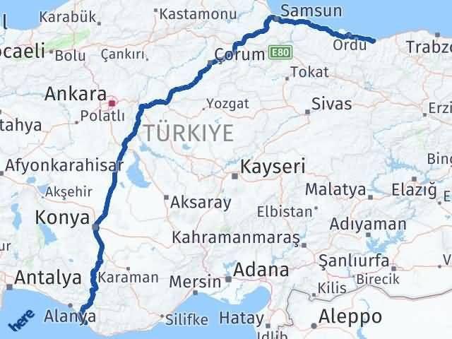 Giresun Gazipaşa Antalya Arası Kaç Km? - Kmhesaplama.com Arası Kaç Km Saat? Nerede Yol Haritası Yakıt, Rota ve Mesafe Hesaplama