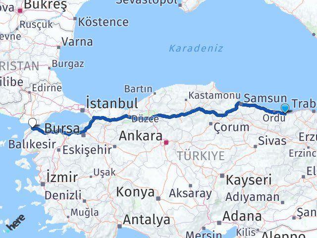 Giresun Gelibolu Çanakkale Arası Kaç Km? - Kmhesaplama.com Arası Kaç Km Saat? Nerede Yol Haritası Yakıt, Rota ve Mesafe Hesaplama