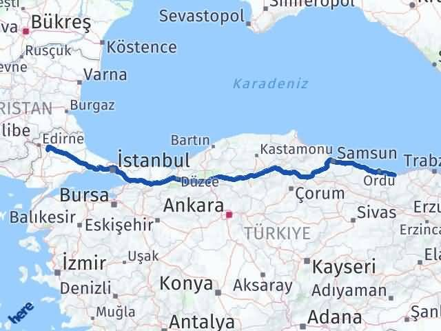Giresun Havsa Edirne Arası Kaç Km? - Kmhesaplama.com Arası Kaç Km Saat? Nerede Yol Haritası Yakıt, Rota ve Mesafe Hesaplama