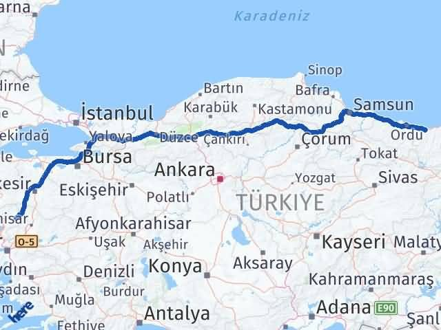 Giresun Kınık İzmir Arası Kaç Km? - Kmhesaplama.com Arası Kaç Km Saat? Nerede Yol Haritası Yakıt, Rota ve Mesafe Hesaplama