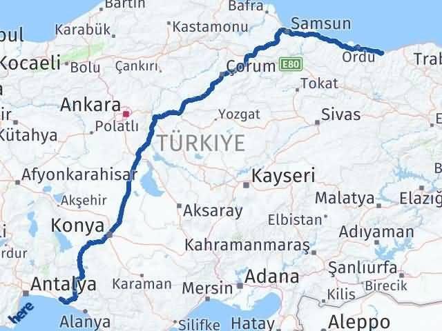 Giresun Manavgat Antalya Arası Kaç Km? - Kmhesaplama.com Arası Kaç Km Saat? Nerede Yol Haritası Yakıt, Rota ve Mesafe Hesaplama