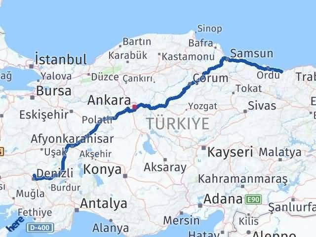 Giresun Pamukkale Denizli Arası Kaç Km? - Kmhesaplama.com Arası Kaç Km Saat? Nerede Yol Haritası Yakıt, Rota ve Mesafe Hesaplama