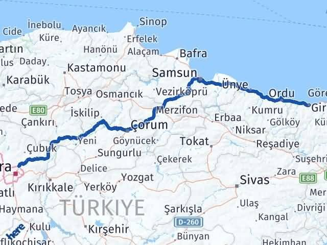 Giresun Pursaklar Ankara Arası Kaç Km? - Kmhesaplama.com Arası Kaç Km Saat? Nerede Yol Haritası Yakıt, Rota ve Mesafe Hesaplama