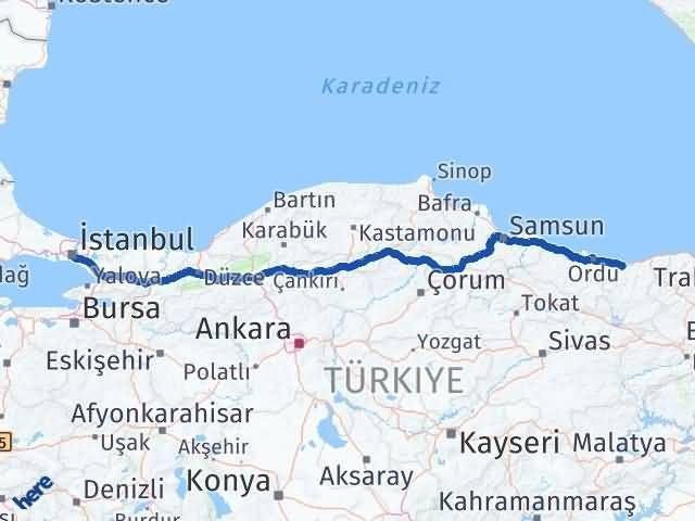 Giresun Üsküdar İstanbul Arası Kaç Km? - Kmhesaplama.com Arası Kaç Km Saat? Nerede Yol Haritası Yakıt, Rota ve Mesafe Hesaplama
