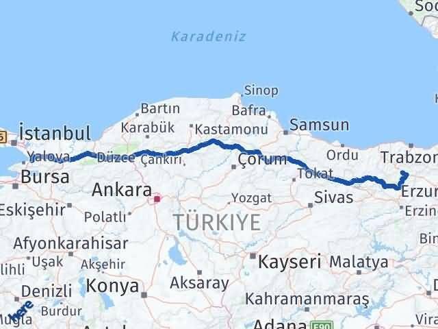 Gümüşhane Altınova Yalova Arası Kaç Km? - Kmhesaplama.com Arası Kaç Km Saat? Nerede Yol Haritası Yakıt, Rota ve Mesafe Hesaplama