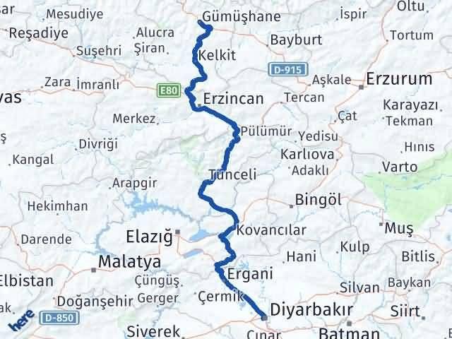 Gümüşhane Bağlar Diyarbakır Arası Kaç Km? - Kmhesaplama.com Arası Kaç Km Saat? Nerede Yol Haritası Yakıt, Rota ve Mesafe Hesaplama