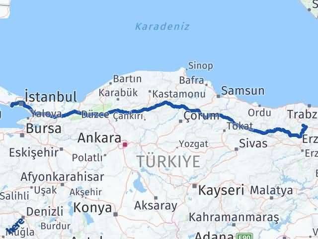 Gümüşhane Beylikdüzü İstanbul Arası Kaç Km? Arası Kaç Km Saat? Nerede Yol Haritası Yakıt, Rota ve Mesafe Hesaplama