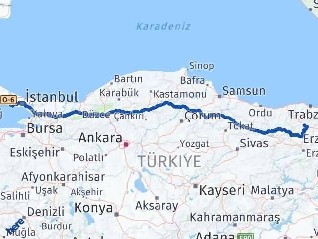 Gümüşhane Büyükçekmece İstanbul Arası Kaç Km? Arası Kaç Km Saat? Nerede Yol Haritası Yakıt, Rota ve Mesafe Hesaplama