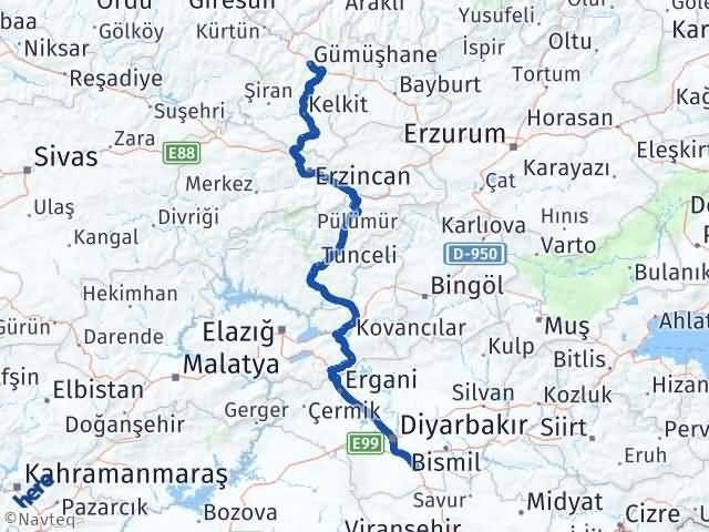 Gümüşhane Çınar Diyarbakır Arası Kaç Km? - Kmhesaplama.com Arası Kaç Km Saat? Nerede Yol Haritası Yakıt, Rota ve Mesafe Hesaplama