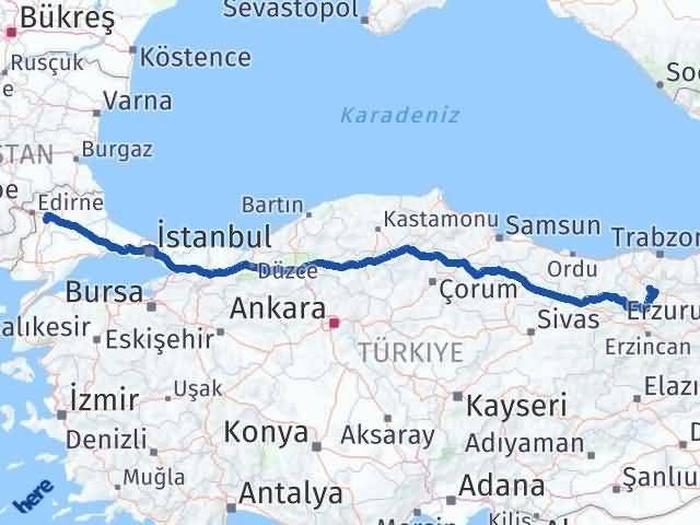 Gümüşhane Havsa Edirne Arası Kaç Km? - Kmhesaplama.com Arası Kaç Km Saat? Nerede Yol Haritası Yakıt, Rota ve Mesafe Hesaplama