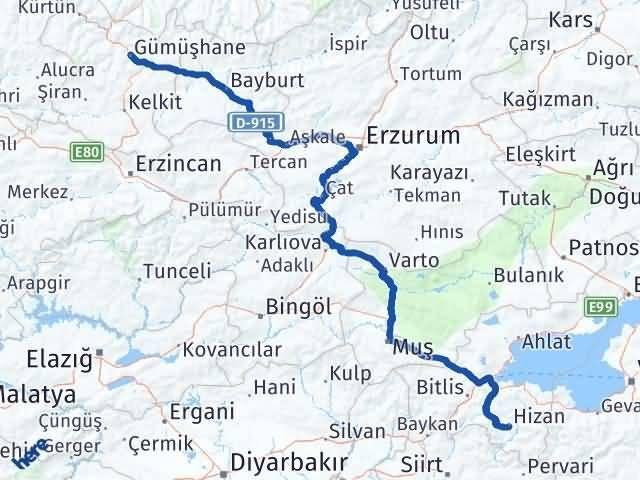 Gümüşhane Hizan Bitlis Arası Kaç Km? - Kmhesaplama.com Arası Kaç Km Saat? Nerede Yol Haritası Yakıt, Rota ve Mesafe Hesaplama