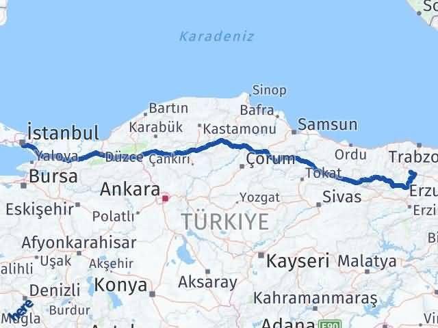 Gümüşhane Kadıköy İstanbul Arası Kaç Km? - Kmhesaplama.com Arası Kaç Km Saat? Nerede Yol Haritası Yakıt, Rota ve Mesafe Hesaplama