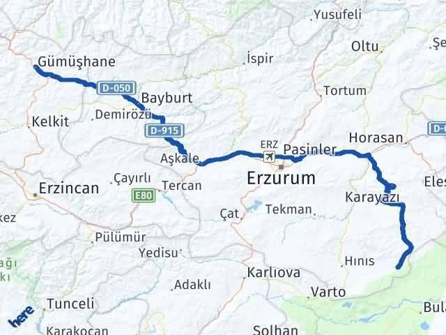 Gümüşhane Karaçoban Erzurum Arası Kaç Km? - Kmhesaplama.com Arası Kaç Km Saat? Nerede Yol Haritası Yakıt, Rota ve Mesafe Hesaplama