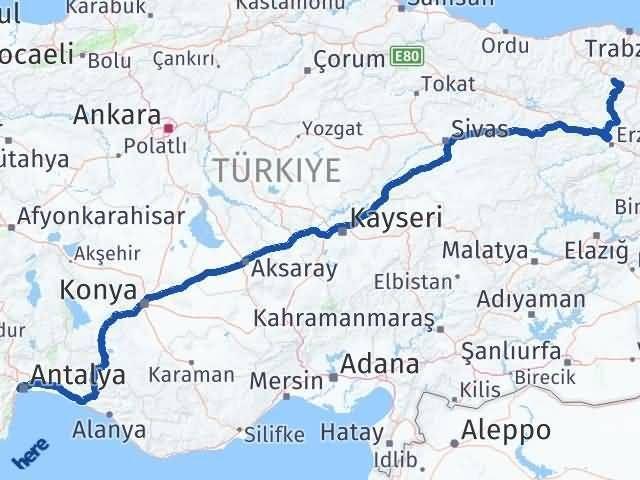 Gümüşhane Konyaaltı Antalya Arası Kaç Km? - Kmhesaplama.com Arası Kaç Km Saat? Nerede Yol Haritası Yakıt, Rota ve Mesafe Hesaplama