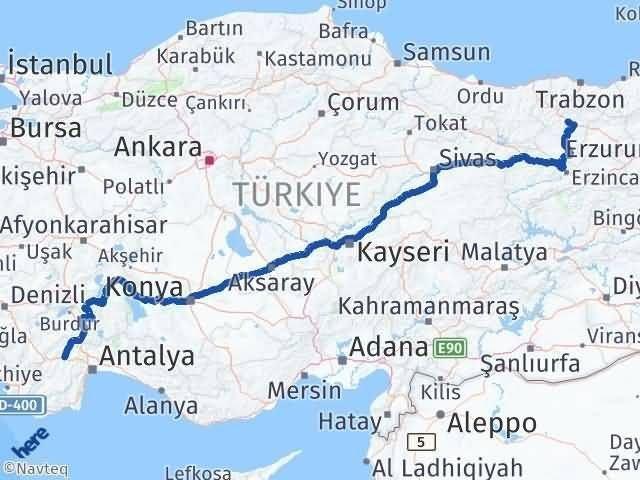 Gümüşhane Korkuteli Antalya Arası Kaç Km? - Kmhesaplama.com Arası Kaç Km Saat? Nerede Yol Haritası Yakıt, Rota ve Mesafe Hesaplama