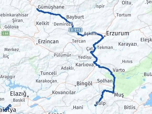 Gümüşhane Kulp Diyarbakır Arası Kaç Km? - Kmhesaplama.com Arası Kaç Km Saat? Nerede Yol Haritası Yakıt, Rota ve Mesafe Hesaplama