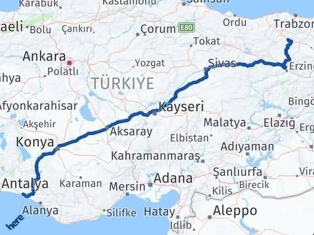 Gümüşhane Manavgat Antalya Arası Kaç Km? - Kmhesaplama.com Arası Kaç Km Saat? Nerede Yol Haritası Yakıt, Rota ve Mesafe Hesaplama