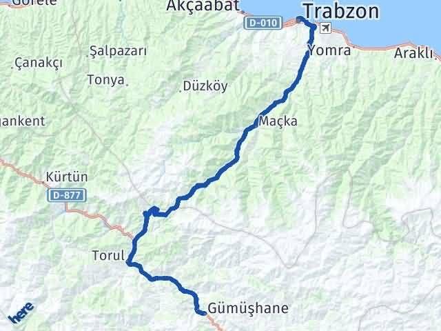 Gümüşhane Ortahisar Trabzon Arası Kaç Km? - Kmhesaplama.com Arası Kaç Km Saat? Nerede Yol Haritası Yakıt, Rota ve Mesafe Hesaplama