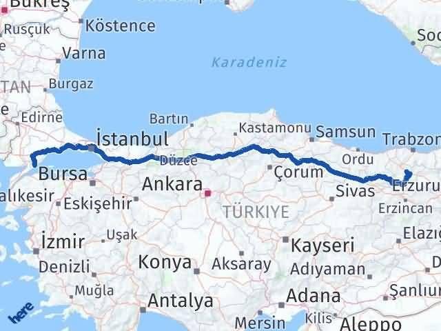 Gümüşhane Şarköy Tekirdağ Arası Kaç Km? - Kmhesaplama.com Arası Kaç Km Saat? Nerede Yol Haritası Yakıt, Rota ve Mesafe Hesaplama