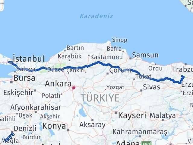Gümüşhane Sultangazi İstanbul Arası Kaç Km? Arası Kaç Km Saat? Nerede Yol Haritası Yakıt, Rota ve Mesafe Hesaplama