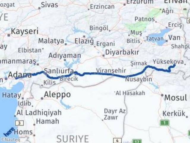 Hakkari Ceyhan Adana Arası Kaç Km? - Kmhesaplama.com Arası Kaç Km Saat? Nerede Yol Haritası Yakıt, Rota ve Mesafe Hesaplama