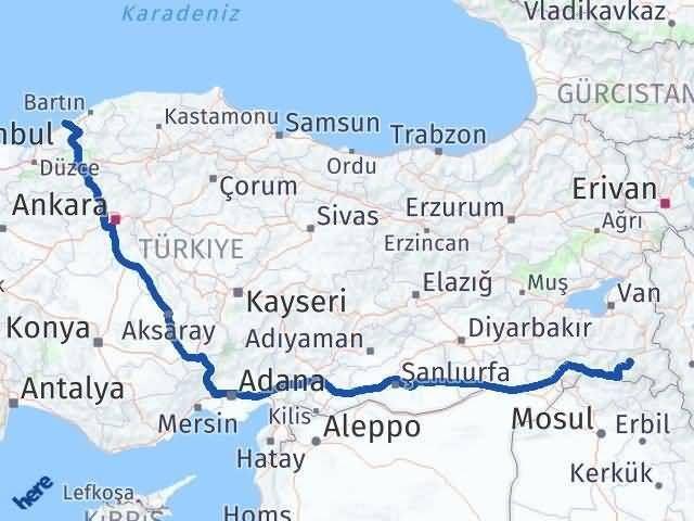 Hakkari Zonguldak Arası Kaç Km? Kaç Saat? - Km hesaplama Arası Kaç Km Saat? Nerede Yol Haritası Yakıt, Rota ve Mesafe Hesaplama