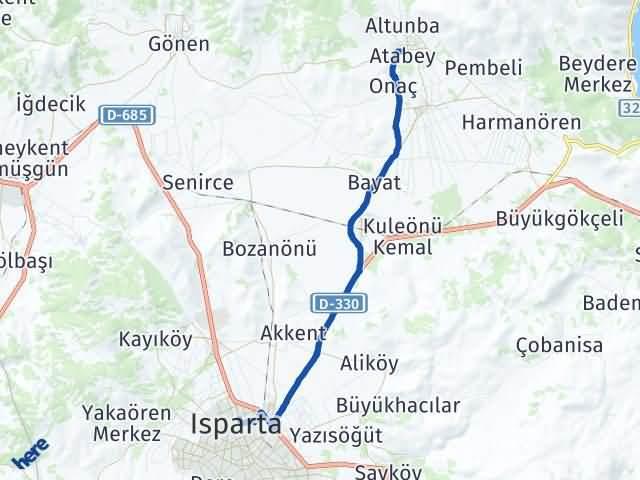 Isparta Atabey Arası Kaç Km? Yol Haritası - Km Hesaplama Arası Kaç Km Saat? Nerede Yol Haritası Yakıt, Rota ve Mesafe Hesaplama