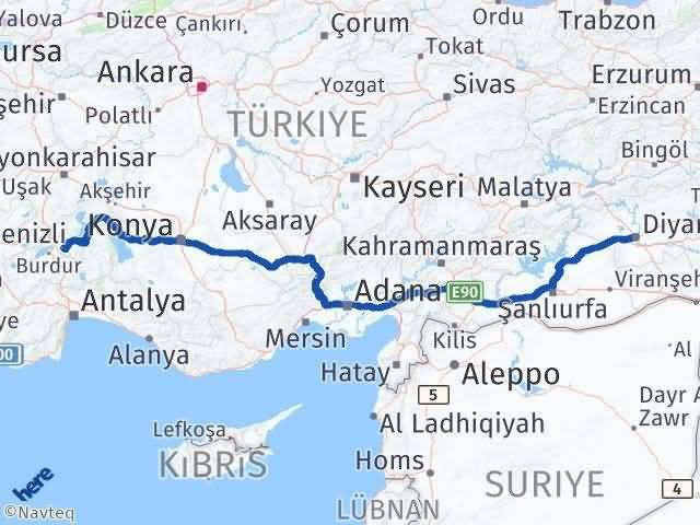 Isparta Diyarbakır Arası Kaç Km? Arası Kaç Km Saat? Nerede Yol Haritası Yakıt, Rota ve Mesafe Hesaplama