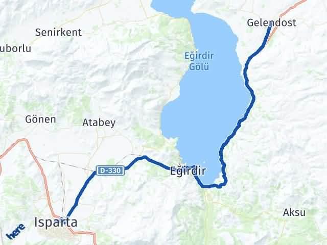 Isparta Gelendost Arası Kaç Km? Yol Haritası - Km Hesaplama Arası Kaç Km Saat? Nerede Yol Haritası Yakıt, Rota ve Mesafe Hesaplama