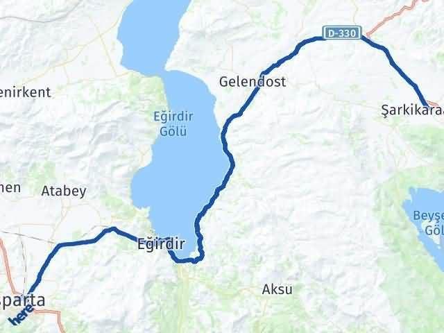 Isparta Şarkikaraağaç Arası Kaç Km? Yol Haritası - Km Hesaplama Arası Kaç Km Saat? Nerede Yol Haritası Yakıt, Rota ve Mesafe Hesaplama