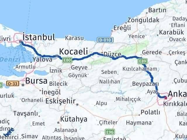 İstanbul Ankara Arası Kaç Km - Kaç Saat? Arası Kaç Km Saat? Nerede Yol Haritası Yakıt, Rota ve Mesafe Hesaplama