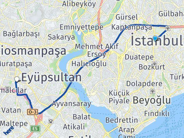 İstanbul Bayrampaşa Arası Kaç Km? Yol Haritası - Km Hesaplama Arası Kaç Km Saat? Nerede Yol Haritası Yakıt, Rota ve Mesafe Hesaplama
