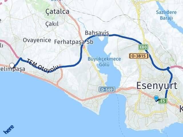 İstanbul Beylikdüzü Selimpaşa Silivri Arası Kaç Km? Arası Kaç Km Saat? Nerede Yol Haritası Yakıt, Rota ve Mesafe Hesaplama