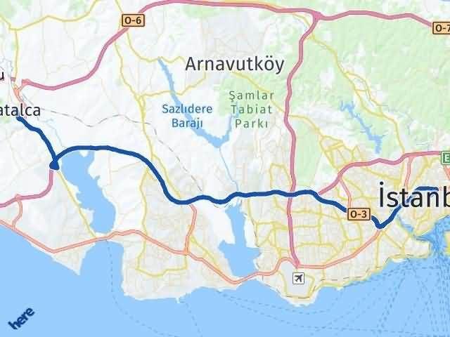İstanbul Çatalca Arası Kaç Km? Yol Haritası - Km Hesaplama Arası Kaç Km Saat? Nerede Yol Haritası Yakıt, Rota ve Mesafe Hesaplama