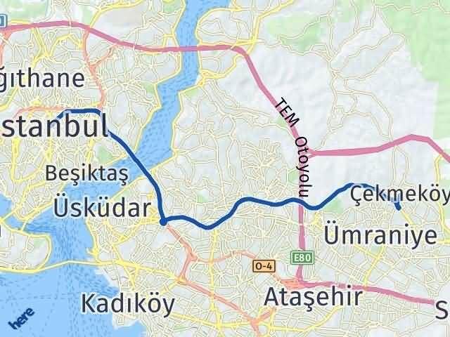 İstanbul Çekmeköy Arası Kaç Km? Yol Haritası - Km Hesaplama Arası Kaç Km Saat? Nerede Yol Haritası Yakıt, Rota ve Mesafe Hesaplama