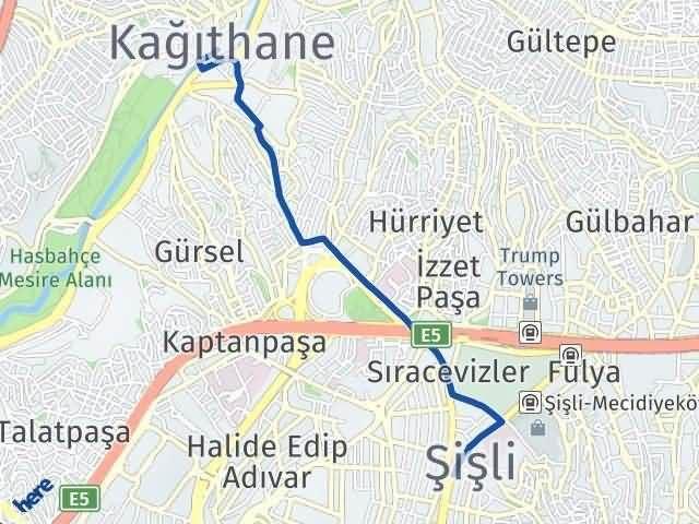 İstanbul Kağıthane Arası Kaç Km? Yol Haritası - Km Hesaplama Arası Kaç Km Saat? Nerede Yol Haritası Yakıt, Rota ve Mesafe Hesaplama