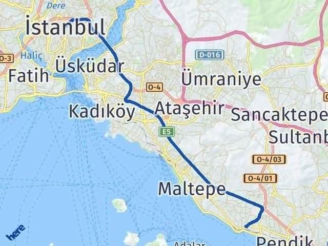 İstanbul Kartal Arası Kaç Km? Yol Haritası - Km Hesaplama Arası Kaç Km Saat? Nerede Yol Haritası Yakıt, Rota ve Mesafe Hesaplama