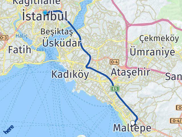İstanbul Maltepe Arası Kaç Km? Yol Haritası - Km Hesaplama Arası Kaç Km Saat? Nerede Yol Haritası Yakıt, Rota ve Mesafe Hesaplama