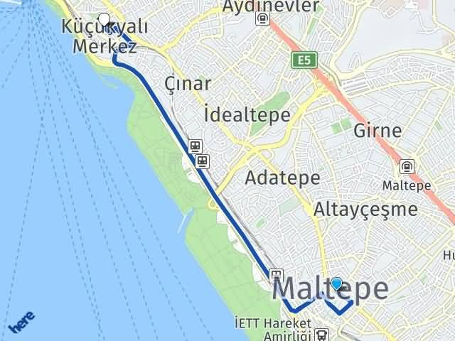 İstanbul Maltepe Küçükyalı Maltepe Arası Kaç Km? Arası Kaç Km Saat? Nerede Yol Haritası Yakıt, Rota ve Mesafe Hesaplama